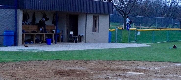 Louisville Leopards Baseball Dugout