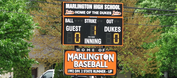 Marlington Dukes Baseball Scoreboard