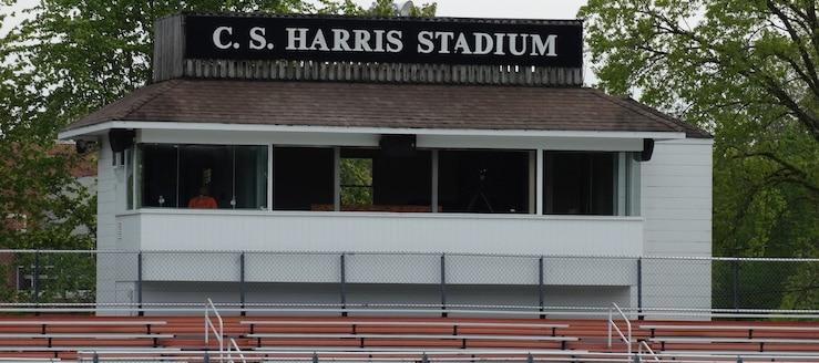 C.S. Harris Stadium Press Box Chagrin Falls Tigers