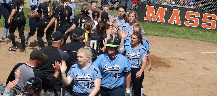 Louisville Leopards Vs. Perry Panthers Softball District Semifinals 2016