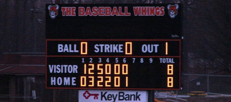 North Canton Hoover Vikings Baseball Scoreboard