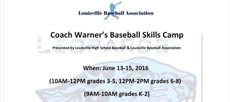 Coach Warner's Baseball Skills Camp Louisville Leopards