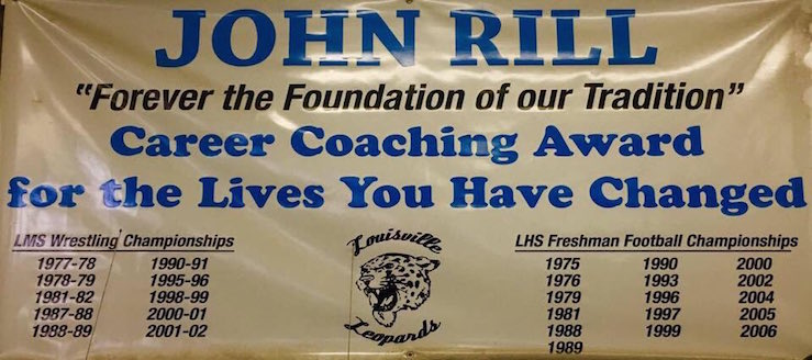 John Rill Louisville Leopards Football & Wrestling Coaching Championships
