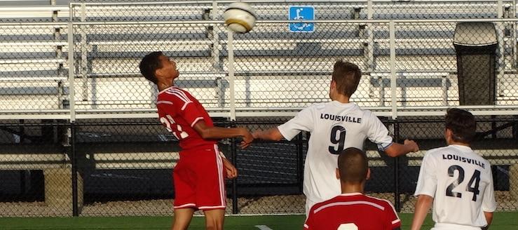Alex Stefanik Louisville Leopards Vs. Northwest Indians Boys Soccer Scrimmage 8-10-2016