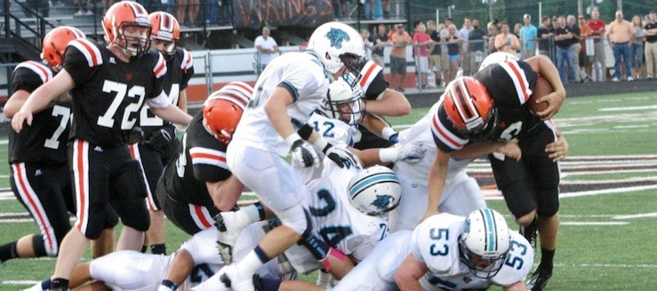 Louisville Leopards at North Canton Hoover Vikings 2012 Football