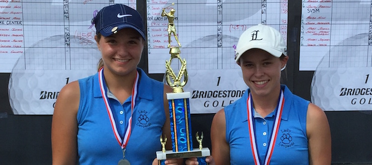 Sierra Townsend and Abby Beaver Lady Tiger Invitational 1st Team