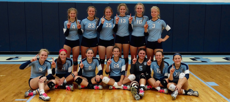 Louisville Leopards Volleyball Undefeated NBC Champions