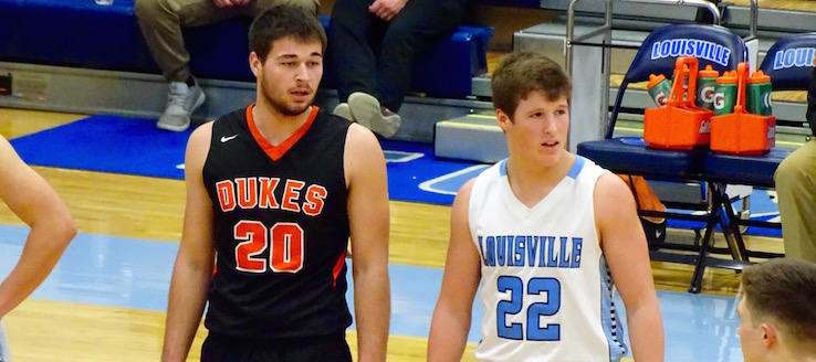 Andrew Brady & Jared Mathie Louisville Leopards Vs. Marlington Dukes Boys Basketball 2016