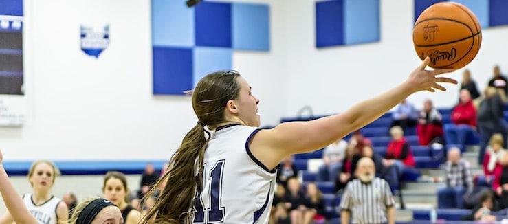 Abby Beaver Louisville Leopards Vs. New Philadelphia Quakers Girls Basketball 2017