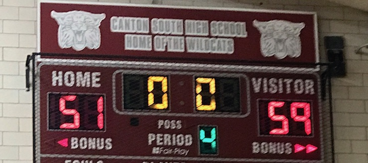 Canton South Wildcats Basketball Scoreboard Freshman Basketball 2017