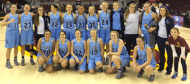 Louisville Leopards Girls Basketball at Quicken Loans Arena 2017