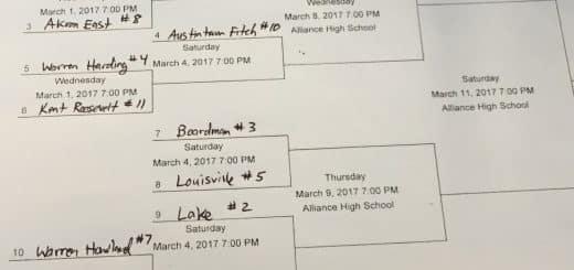 DI Alliance District Boys Basketball Tournament Bracket 2017
