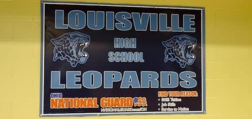 Louisville Leopards High School National Guard Banner