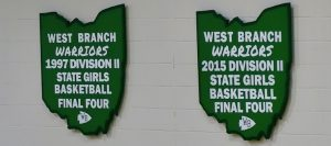 West Branch Warriors Girls Basketball Final Four Banners
