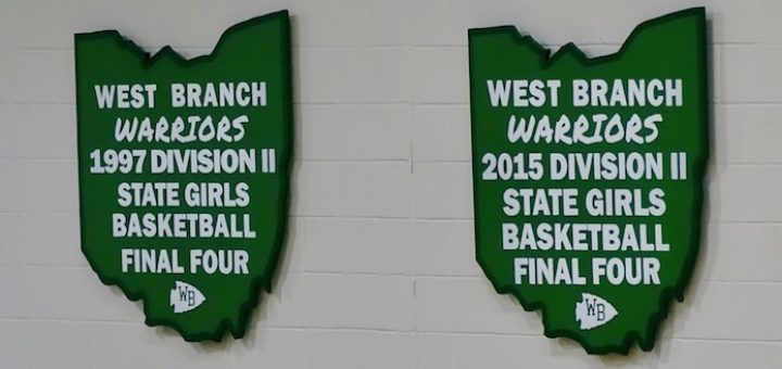 West Branch Warriors Girls Basketball Final Four Banners