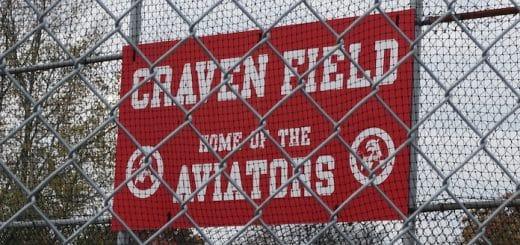 Craven Field Home of the Aviators Sign - Alliance Baseball