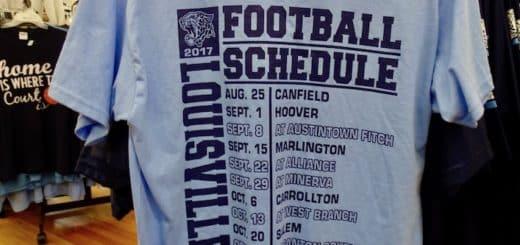 Louisville Leopards Football 2017 Schedule Shirt