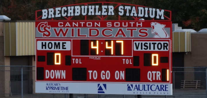 Brechbuhler Stadium Scoreboard - Canton South Wildcats