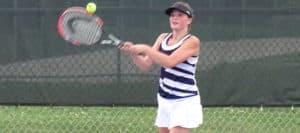 Jo Menegay Louisville Leopards 2017 Girls Tennis Vs. Aquians Knights