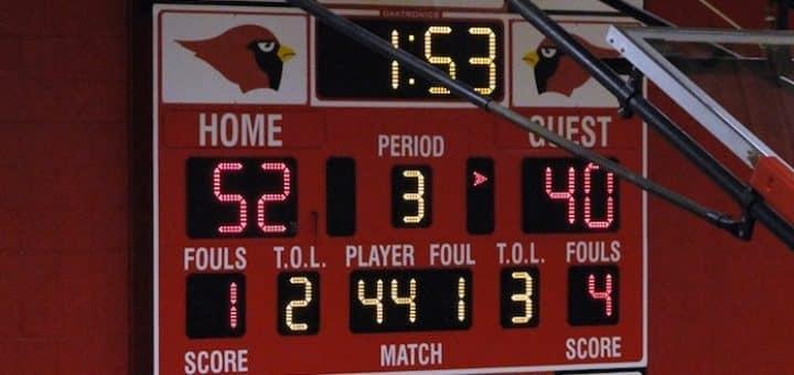 Canfield Cardinals Basketball Scoreboard