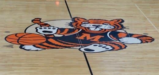 Massillon Tigers Center Court Obie Logo at Washington High School Gym