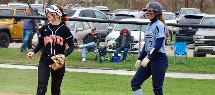 North Canton Hoover Vikings at Louisville Leopards Softball
