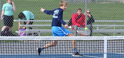 Scott Gronow Louisville Leopards Boys Tennis 2018 Vs. Marlington Dukes