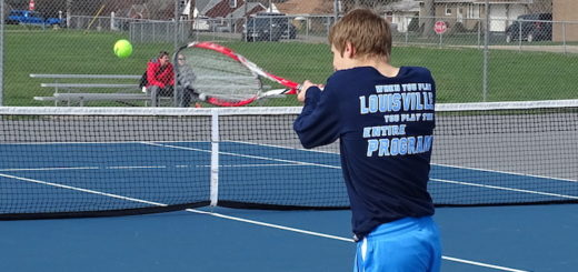 Scott Gronow Louisville Leopards Boys Tennis Vs. Marlington Dukes 2018