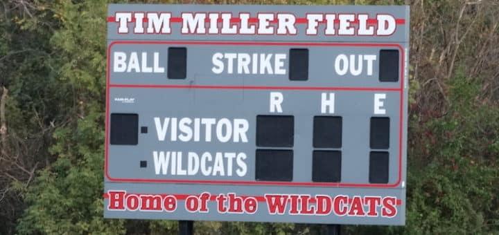 Tim Miller Field Scoreboard - Canton South Wildcats Baseball