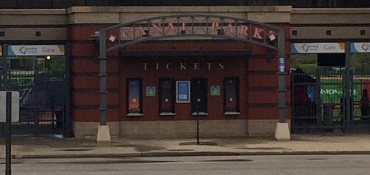 Canal Park Entrance Akron Rubber Ducks Baseball Stadium