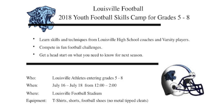 Louisville Leopards Youth Camp 2018