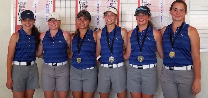 Louisville Leopards Girls Golf Tri-County Preseason Tournament 2018