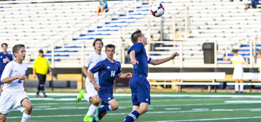 Riley Adams Header Louisville Leopards Boys Soccer Vs. Ravenna Ravens 2018