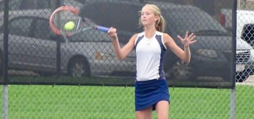 Rachel Kibler Louisville Leopards Girls Tennis 2018 Vs. Southeast Pirates