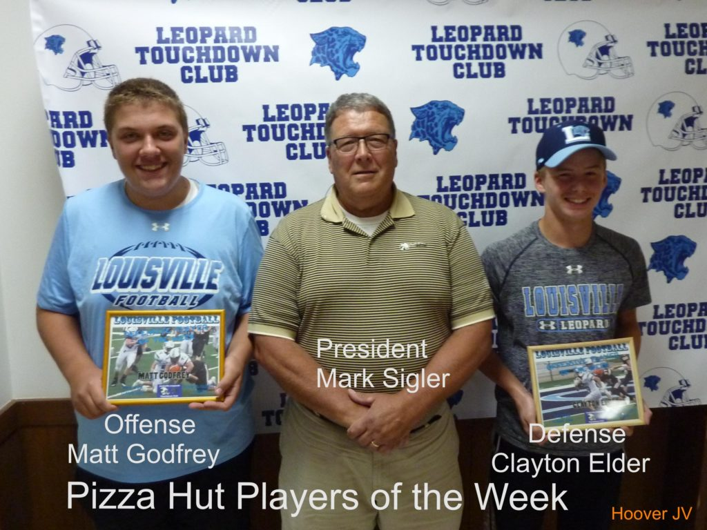 Louisville Leopards JV Football Players of the Week Vs. North Canton Hoover Vikings 2018