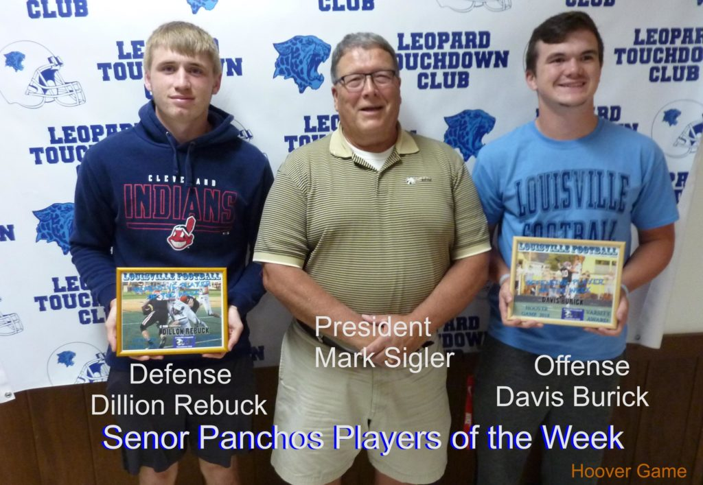 Louisville Leopards Varsity Players of the Week Vs. North Canton Hoover Vikings 2018