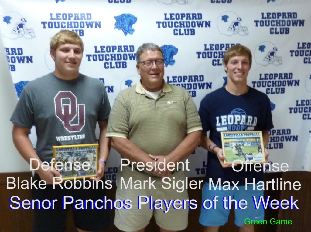 Louisville Leopards Varsity Football Players of the Week Vs. Green Bulldogs 2018