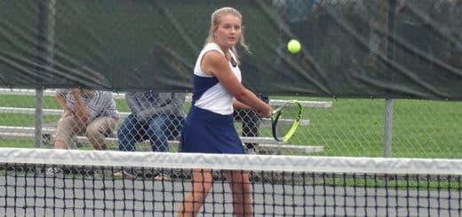 Amanda Plaskett Louisville Leopards Girls Tennis Vs. Southeast Pirates 2018