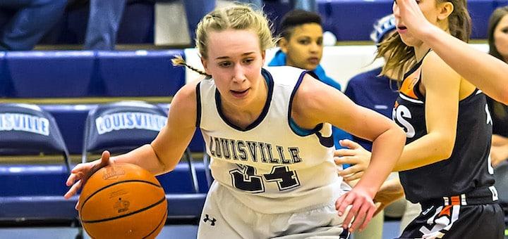 Erin Hahn Louisville Leopards Girls Basketball Vs. Marlington Dukes 2016