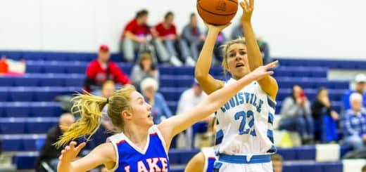 Kayla Gibson Louisville Leopards Girls Basketball Vs. Lake Blue Streaks 2018