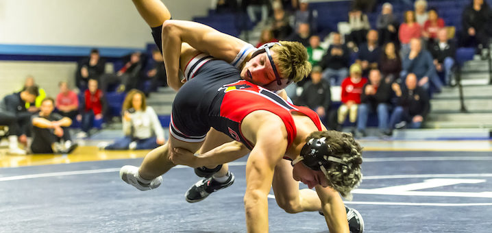 Carter Mickley Louisville Leopards Wrestling Vs. Canfield Cardinals 2019