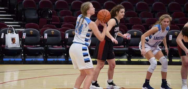 Erin Hahn Louisville Leopards Girls Basketball Vs. Canfield Cardinals 2018 at Quicken Loans Arena