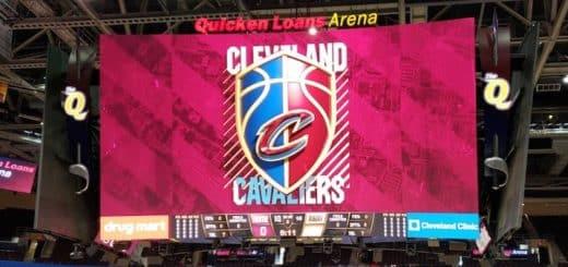 Quicken Loans Arena Jumbotron - Cleveland Cavaliers Scoreboard