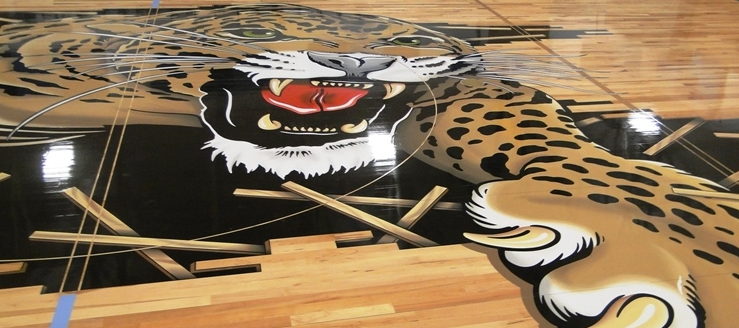 Louisville Leopards Half Court in Gym