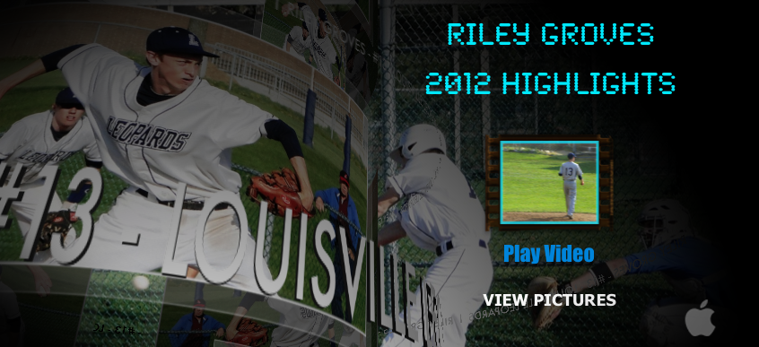 Riley Groves 2012 Baseball Highlights Video DVD