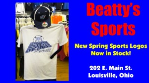 Beatty's Sports Baseball Shirt 2012 Spring Sports Logos