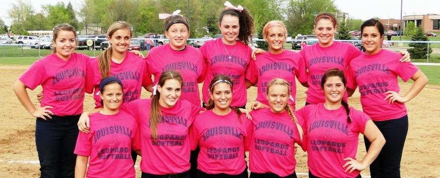 Louisville Lady Leopards Softball Pink Jerseys Vs. Salem