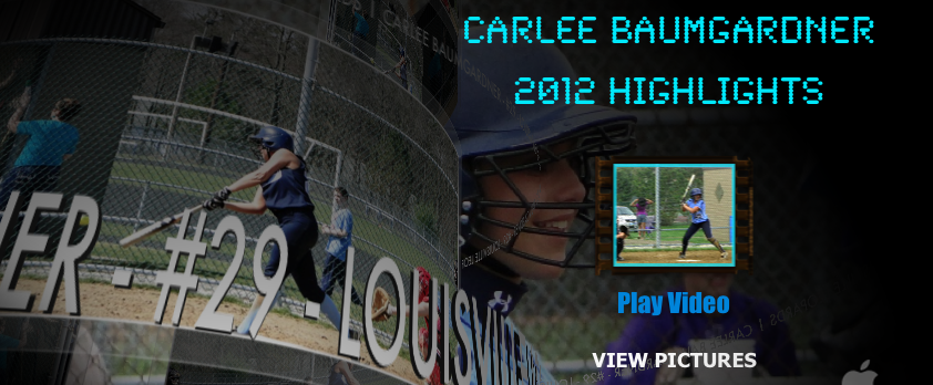 Carlee Baumgardner 2012 Softball Highlights Louisville Leopards
