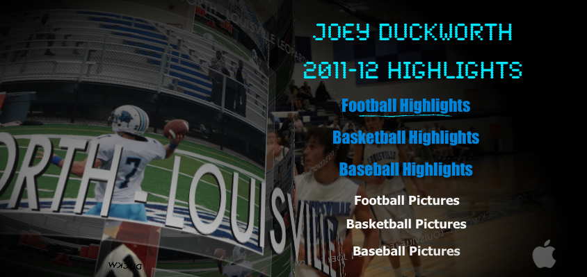 Joey Duckworth Highlights Football, Baseball, & Basketball DVD