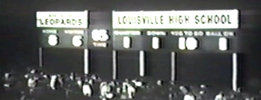 Louisville Leopards 1964 Football Scoreboard